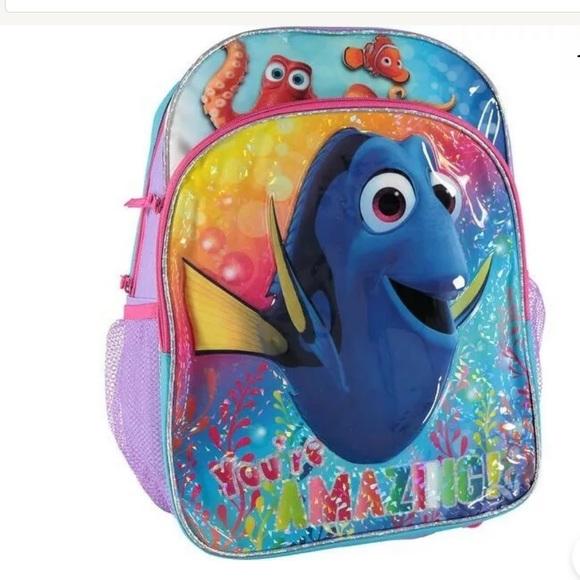 Pixar Finding Dory Motion Lights Back Pack Book Bag